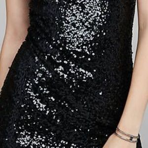 Express sequin party sheath dress XS
